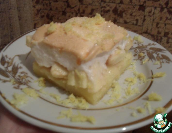 Рецепт: Пирог с яблоками под воздушной хмаркой
