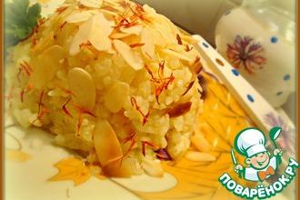 Рецепт: Рис с шафраном и миндалем
