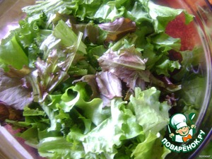 tear the lettuce finely and sprinkle with lemon juice