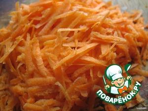 Морковку трём на крупной терке