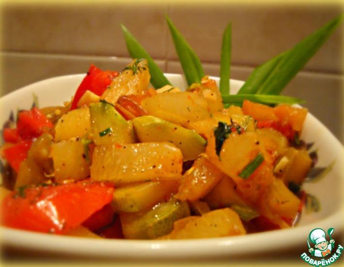 Рецепт: Овощи по-тайски