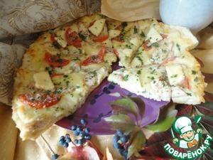 """Пицца со сливочным соусом """"Осенний блюз"""" – кулинарный рецепт"""