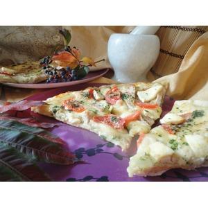 Пицца со сливочным соусом Осенний блюз