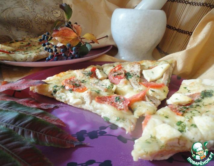 Рецепт: Пицца со сливочным соусом Осенний блюз