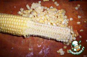 To separate the corn from the cob