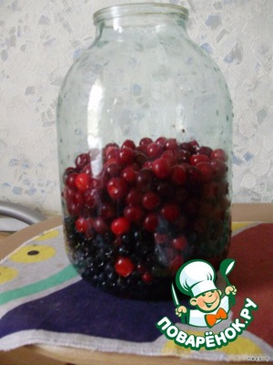 Cherries wash and remove seeds, put in jar (here somewhere)