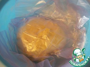 Cover it with a plastic bag and allow to rest for 30-40 minutes at room temperature.