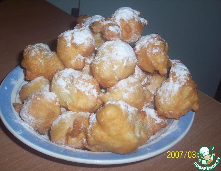 Рецепт: Пончики Брызги шампанского