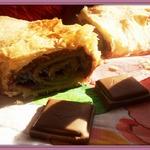 Штрудель с шоколадно-ореховой начинкой