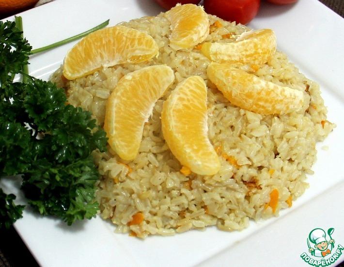 Рецепт: Апельсиново-имбирный рис по-американски