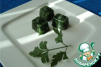 Рецепт: Зеленые кубики