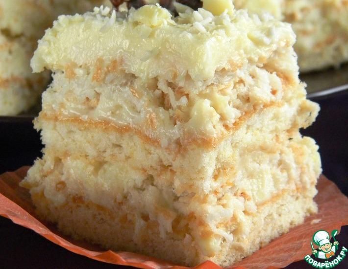 Рецепт: Пирожное Белый кокос