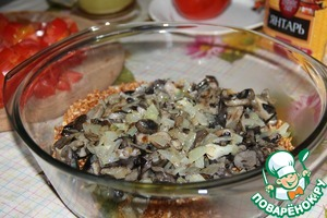 Mushrooms with onion