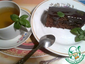 Help yourself, green tea with lemon balm and a slice of very tasty and quick cake!