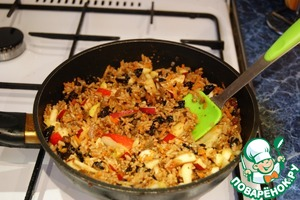 With a spatula gently mix everything together, close the lid and simmer for another 15 minutes until fully cooked