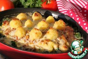 Рецепт Мусака с брокколи и картофельным пюре