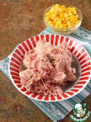 Take 400 g of minced meat (I got pork).