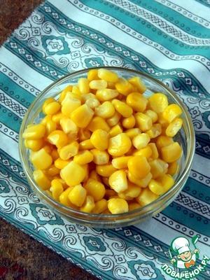 Corn drain and rinse.
