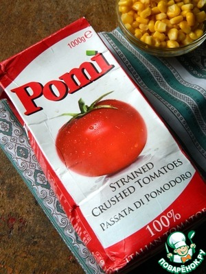 Also, we need crushed tomatoes, I took the tomatoes of the brand Parmalat.