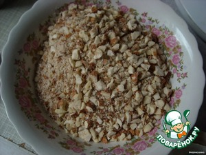 Add the chopped almonds and stir to avoid lumps.
