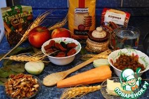 Все ингредиенты, которые нам нужны для приготовления фруктового риса