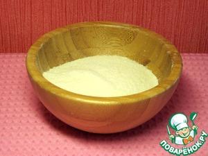 Так как для приготовления десерта используется рисовая мука, перемелем рис миксером в муку.