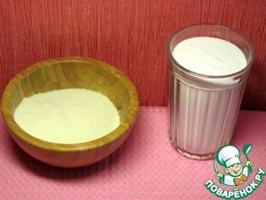 Приготовим сахарную пудру и рисовую муку.