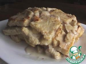 """Быстрый горячий сендвичный пирог """"Горка"""" – кулинарный рецепт"""