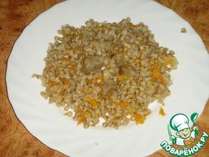 Buckwheat with meat ready! Bon appetit!