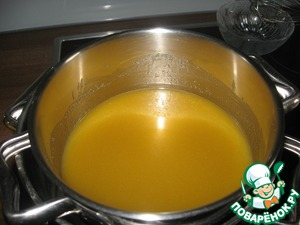 And put in a water bath to completely dissolve the butter and sugar.