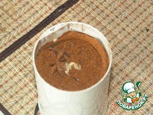 Анис смолоть в кофемолке. Хочу только добавить: Анис можно добавлять 2 видов - Анис обыкновенный (семена) -Pimpinella anisum 2 столовые ложки, как в оригинальном рецепте. Его молоть в кофемолке не надо! Или Звездчатый анис - Anisum stellatum. Количество последнего надо уменьшить, он имеет гораздо более активный аромат.