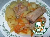 Свиные ребрышки с овощами ингредиенты