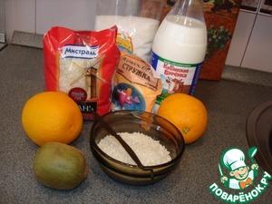 """Следующий этап приготовления десерта. Необходимо отварить рис. Для приготовления роллов я использовала круглозерный белый рис """"Кубань"""".   Этот сорт риса прекрасно подходит для приготовления суши и роллов."""