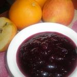Брусничное варенье с апельсинами и яблоками