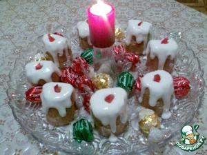 """Пирожные """"Новогодние свечи"""" – кулинарный рецепт"""