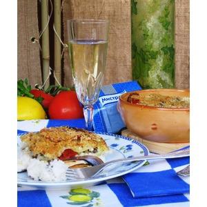 Тиелла из риса, картофеля и мидий