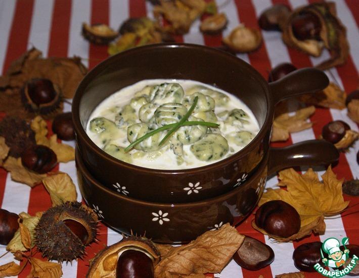 Рецепт: Ньокки с соусом горгонцола