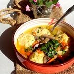 Суп с рисовыми фрикадельками
