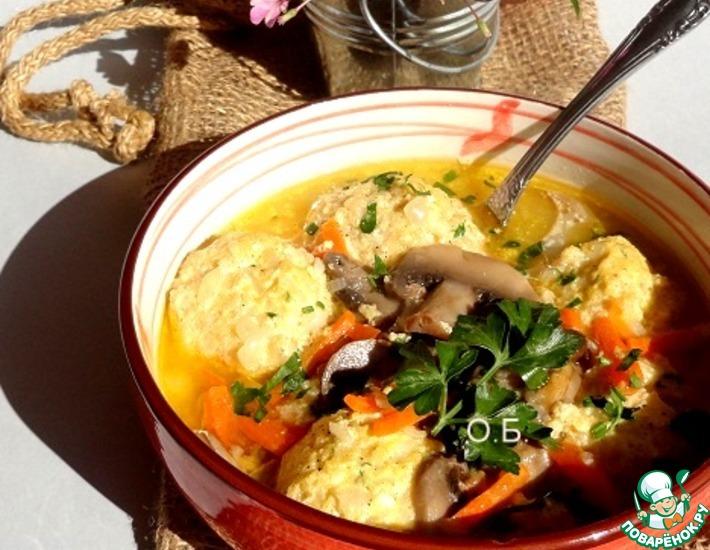 Рецепт: Суп с рисовыми фрикадельками