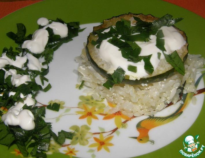 Рецепт: Рис тушеный с кабачком