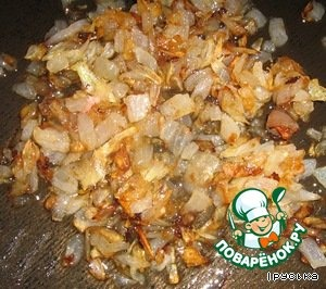 In vegetable oil fry the onion.