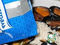 Тиелла из риса, картофеля и мидий ингредиенты
