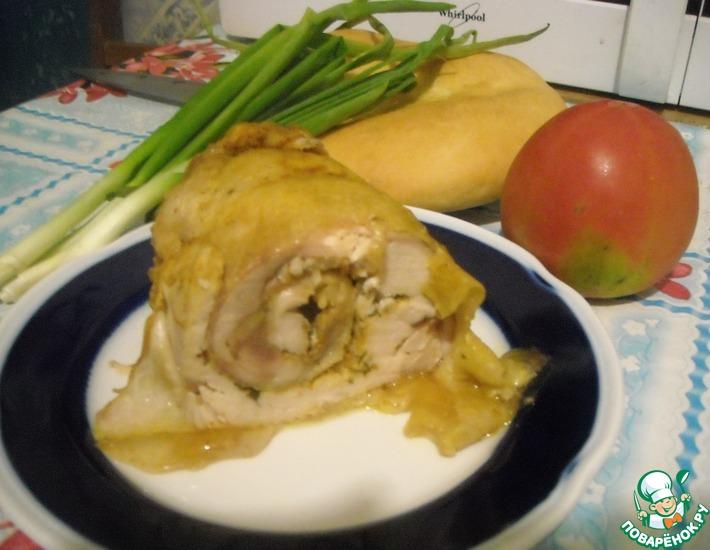 Рецепт: Рулет из цельного филе курицы