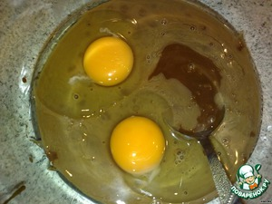 Condensed cocoa mix with eggs