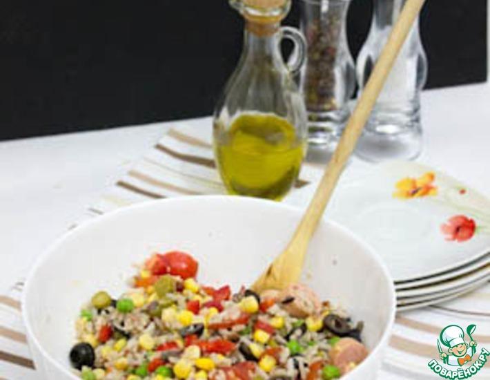 Рецепт: Рисовый салат по-итальянски