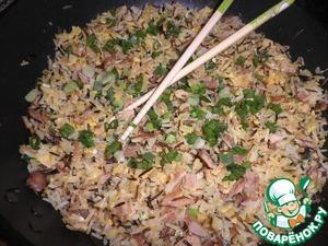 Перед подачей посыпать мелко нарезанным зеленым луком.