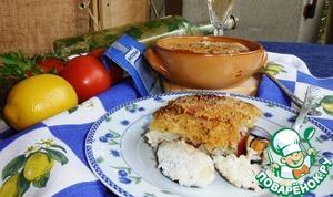 Поставьте таким образом подготовленное блюдо в разогретую до 200°C духовку и оставьте томиться на 30-40 минут. По истечению этого времени аккуратно проверьте готовность риса и картофеля под золотистой корочкой панировки. И если готовность блюда отвечает вашим вкусам, смело доставайте его из духовки и оставьте остывать минут пять.