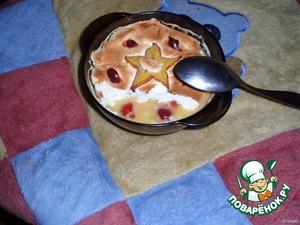 Посуду поставить в духовку, разогретую до 180 градусов и выпекать 5-10 минут.