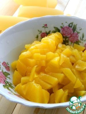 Канеллони с персиково-творожной начинкой – кулинарный рецепт
