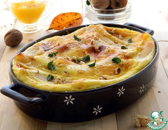 Рецепт: Канеллони с персиково-творожной начинкой